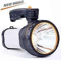 CSNDICE 35W Rechargeable Spot light, spotlight flashlight led, High-power Super Bright 6000mah 9000 Lumens, USB Power…