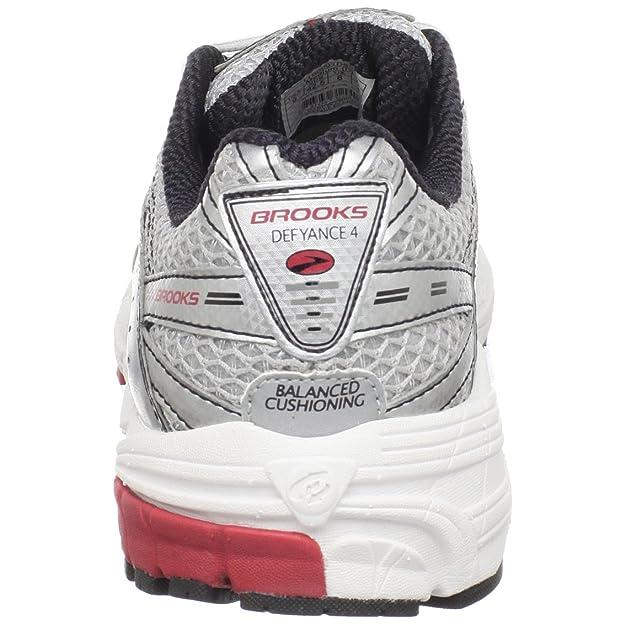 ef7b9e44ca3 Brooks Men s M Defyance 4 White Silver Black Red Trainer 1100901D633 7 UK   Amazon.co.uk  Shoes   Bags