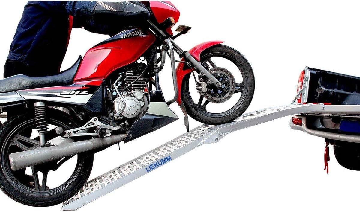 Liekumm 228cm Faltbare Einzelne Alimunium Rampe Rampe Für Geländewagen Motorrad Lkw Laden Tragflähigkeit 340kg Ar 07 Drogerie Körperpflege