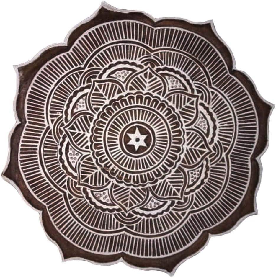 Sharvgun Printing Block for Saree Salwar Suite duptta Textile Wooden Block Henna Print and Scrap Booking Block Broder Stamp Block Hand-Carved Stamp Block