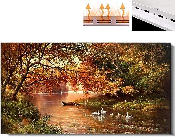 HL Calentadores de Panel Mural Fibra de Carbono Pared Ahorro de energía Caliente Velocidad de Ahorro de energía Calentador de Oficina en casa Caliente Purificador de Aire Purificar formaldehído,1000W: Amazon.es: Hogar
