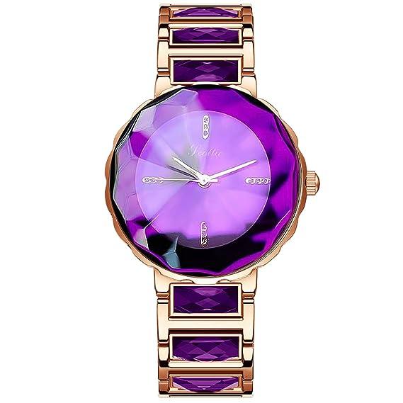 RORIOS Elegante Moda Mujer Relojes de Pulsera Acero Inoxidable Band Relojes de Mujer Impermeable: Amazon.es: Relojes