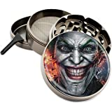 Joker Face Design Large Size Zinc Grinder With FREE Scraper Item # 111315-56