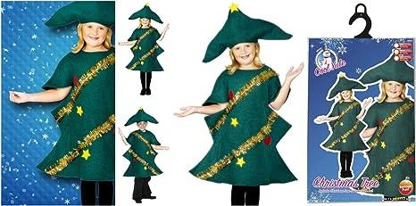 Disfraz de árbol de Navidad para niños de Fancy Dress World ...