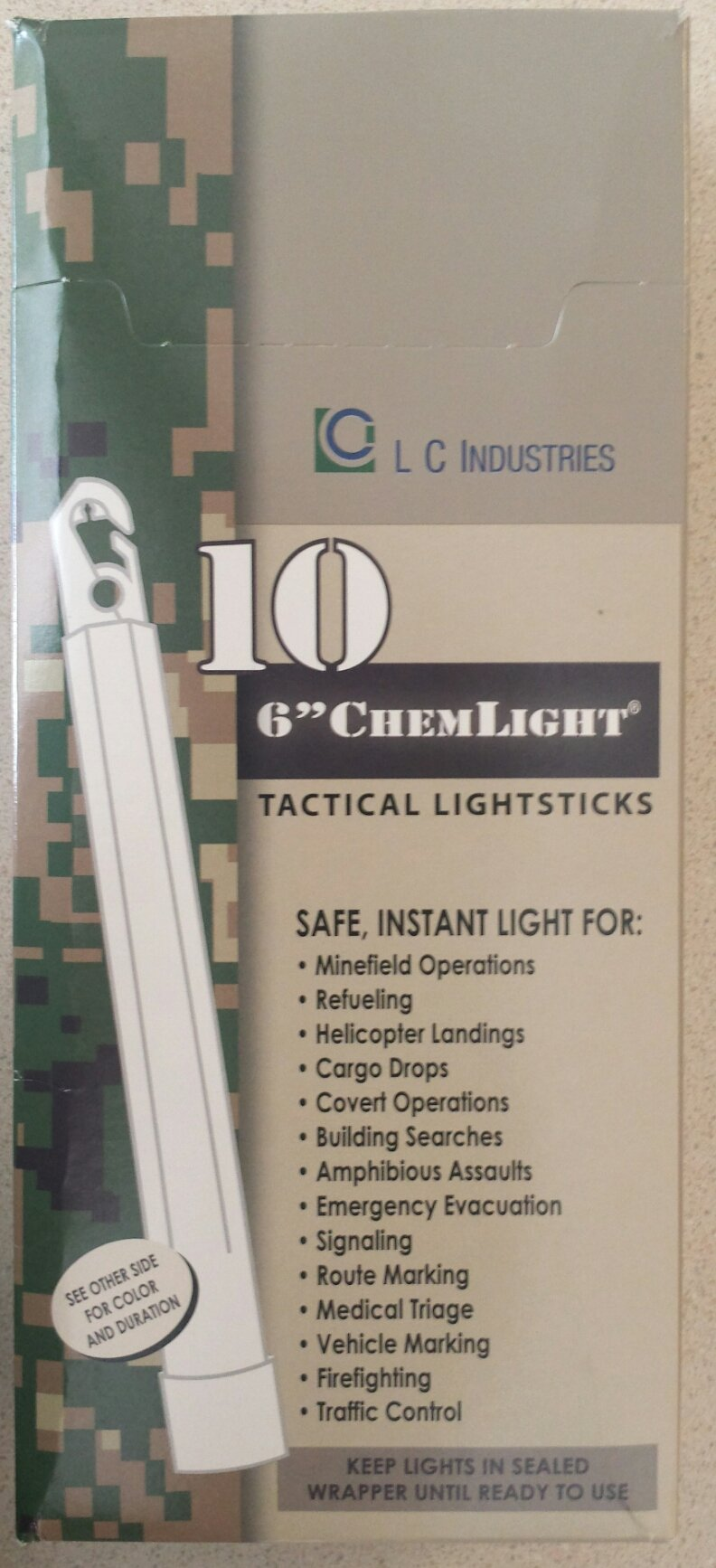 (10 Pack) Cyalume Light sticks 9-01360PF - NSN 6260-01-196-0136 - 6 in. ChemLight - Yellow - 12 Hours - Military Grade