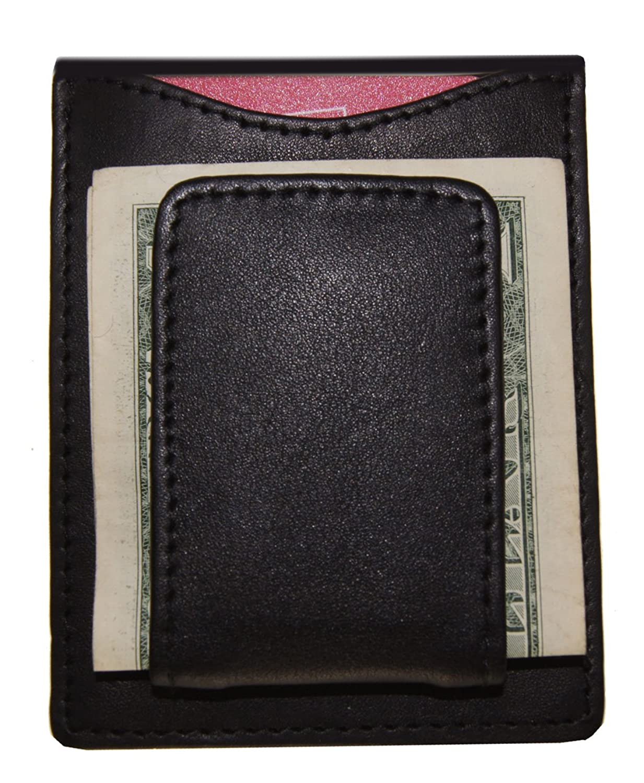 AG Wallets Men's Simple Magnet Money Clip Wallets (Black)