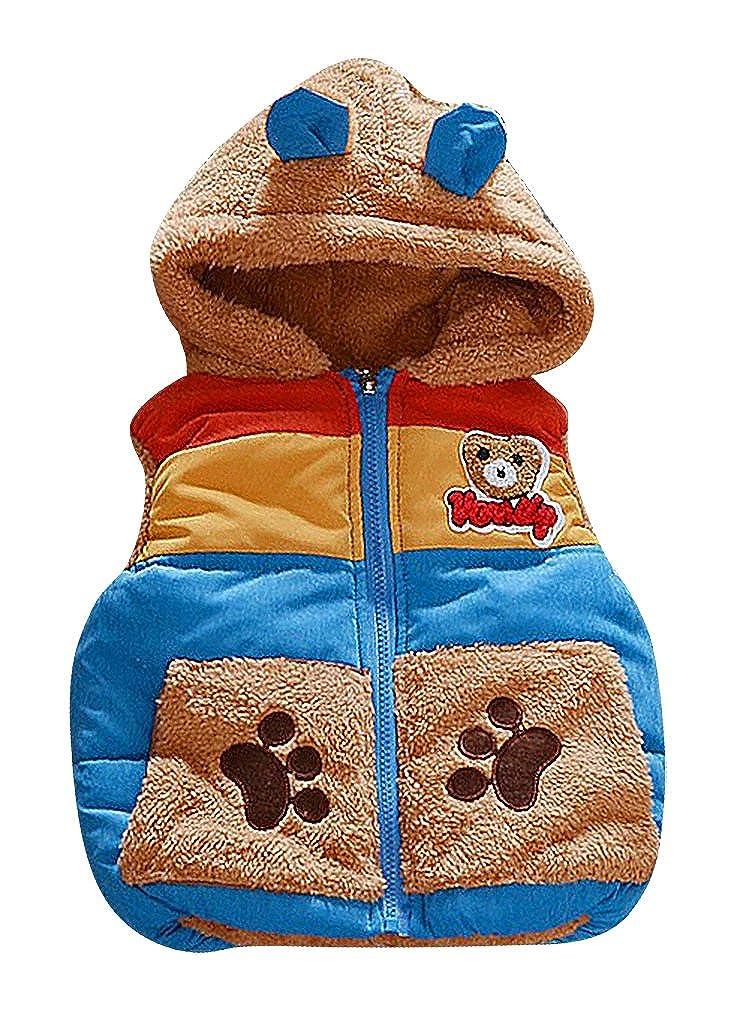BPrince Kids Quilted Zip Up Fleece Panda Applique /& Lining Hooded Winter Jacket
