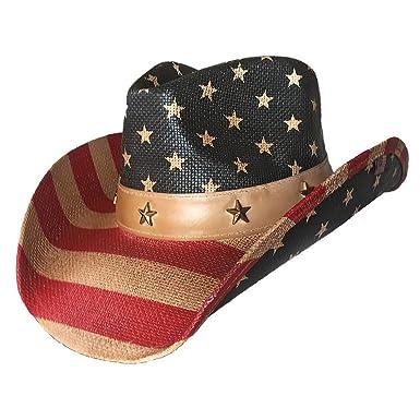 0241b61fe Port Classic American Flag Vintage Cowboy Hat