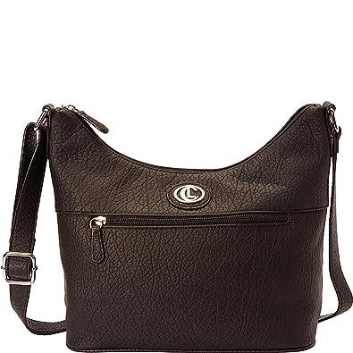 Amazon.com  Aurielle-Carryland Horizon Colorblock Hobo Bucket (Black)  Shoes d40d82c0278ce