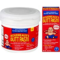 Boudreaux's Butt Paste Maximum Strength Diaper Rash Ointment, 2 oz & 14 oz Bundle
