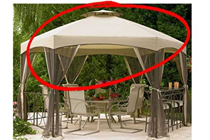 The Outdoor Patio Store Replacement Canopy For Jaclyn Smith Today Dutch  Harbor Gazebos 7 8001237920