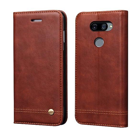 Amazon.com: Funda para LG G8 ThinQ (piel sintética, con ...