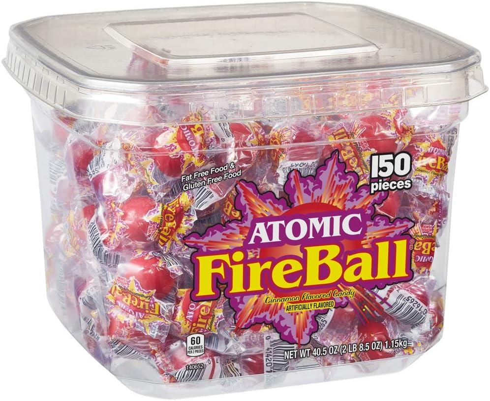 Atomic Fireball, Individually Wrapped - 150ct Tub: Amazon.es ...