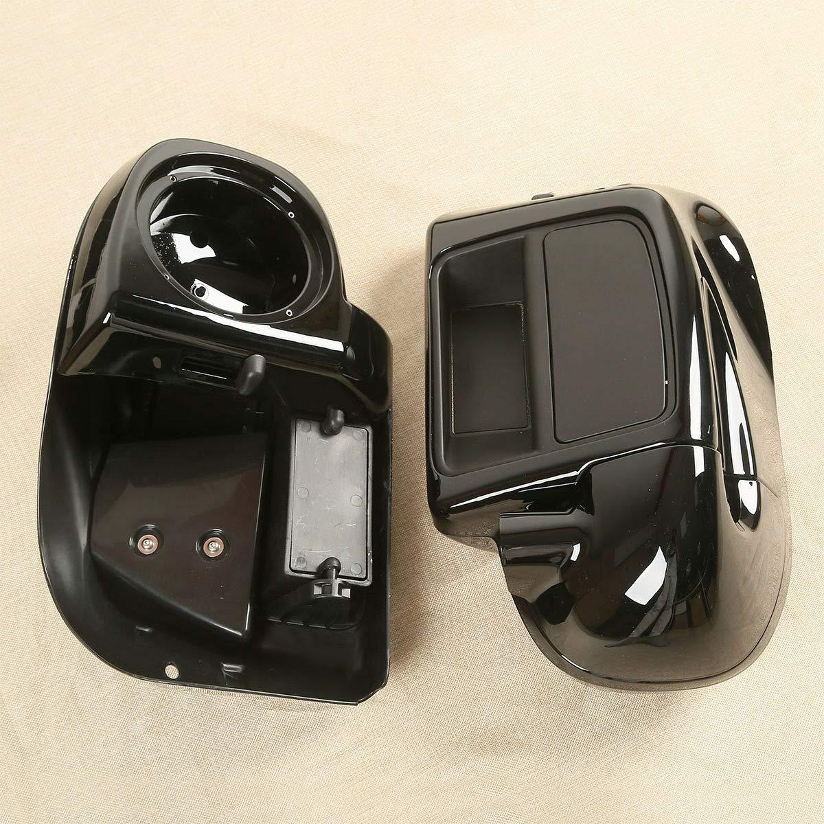 TCT-MT 6-1//2 Speaker Box Pod+Lower Vented Fairing For Harley Road King FLHR Street Glide FLHX FLHXS 2014-2020; Road Glide FLTRX FLTRXS Freewheeler FLRT 2015-2020; Electra Glide FLHTCU 2014-2019 Black