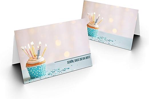 Candele Matrimonio Segnaposto.Karten24plus 75 Segnaposto Muffin Di Compleanno Con Candele