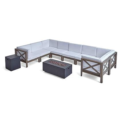 Amazon.com: Juego de sofá seccional para exteriores con ...