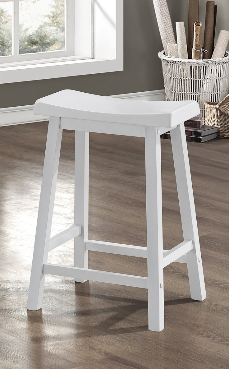 amazoncom monarch specialties white saddle seat barstools (  - amazoncom monarch specialties white saddle seat barstools (piece percarton) inch kitchen  dining