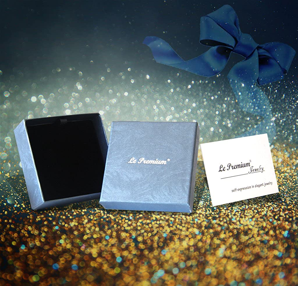 Le Premium/® Bracelet en Cristal Bleu Ciel /étoil/é pour Femmes de Swarovski Plaqu/é de 17 mm de Cristaux et de Rhodium pour 7 Femmes