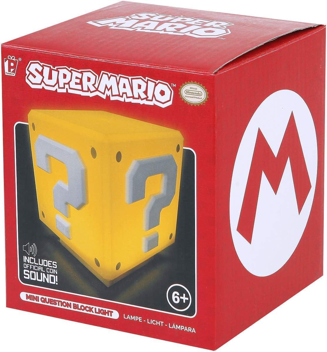 Super Mario PP3428NN Mini lumi/ère carr/ée en Forme de bo/îte myst/ère avec Son Multicolore Plastique