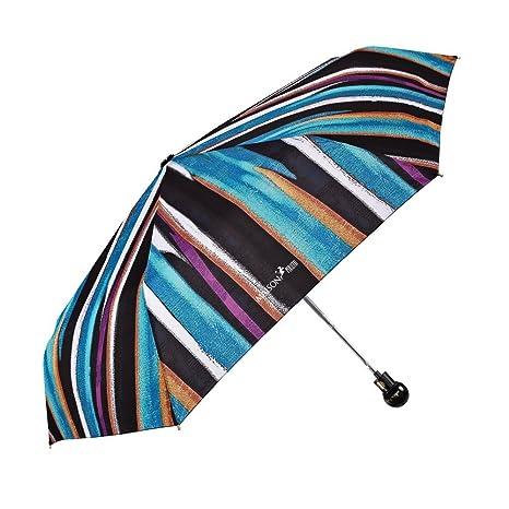Paraguas Mujer Mini Maison Perletti - Apertura Automática - Acabados Elegantes con Detalles en Plata y