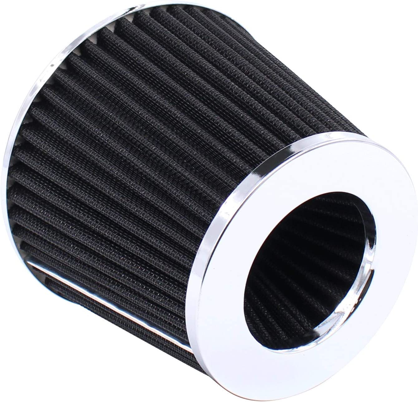 XtremeAmazing 3 Inch 76mm Cold Air Intake Cone Filter Inlet Universal Replacement Black