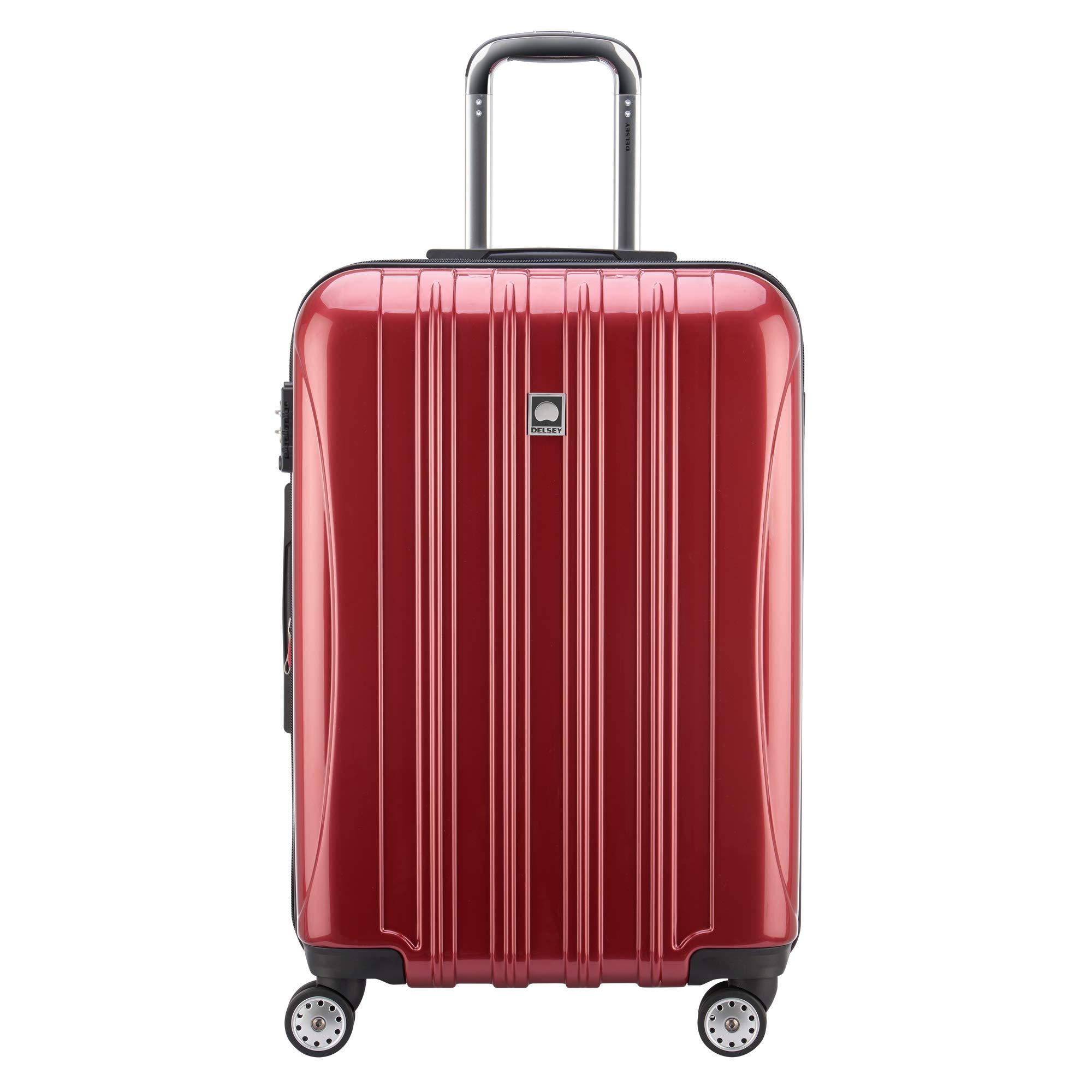 DELSEY Paris Luggage Checked-Medium (25''-28''), Brick Red