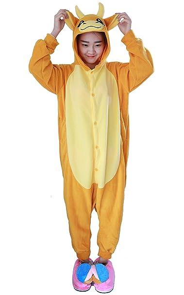 Unisex Animal Pijama Ropa de Dormir Cosplay Kigurumi Onesie Vaca Disfraz para Adulto Entre 1,
