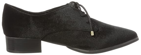 Buffalo London 214-0809 Velvet, Brogue Donna, Nero (Black 01), 40 EU