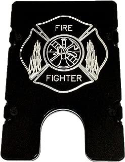 product image for HMC Billet Fire Fighter RFID Protection Credit Card Holder Aluminum Wallet, Black
