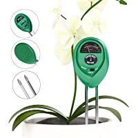 Ndier 3 - en - 1 Testeur d'humidité, de luminosité et d'acidité du pH pour extérieur et intérieur