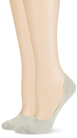 Burlington Everyday Doppelpack, Calcetines Cortos para Mujer, Gris (Light Grey 3400),