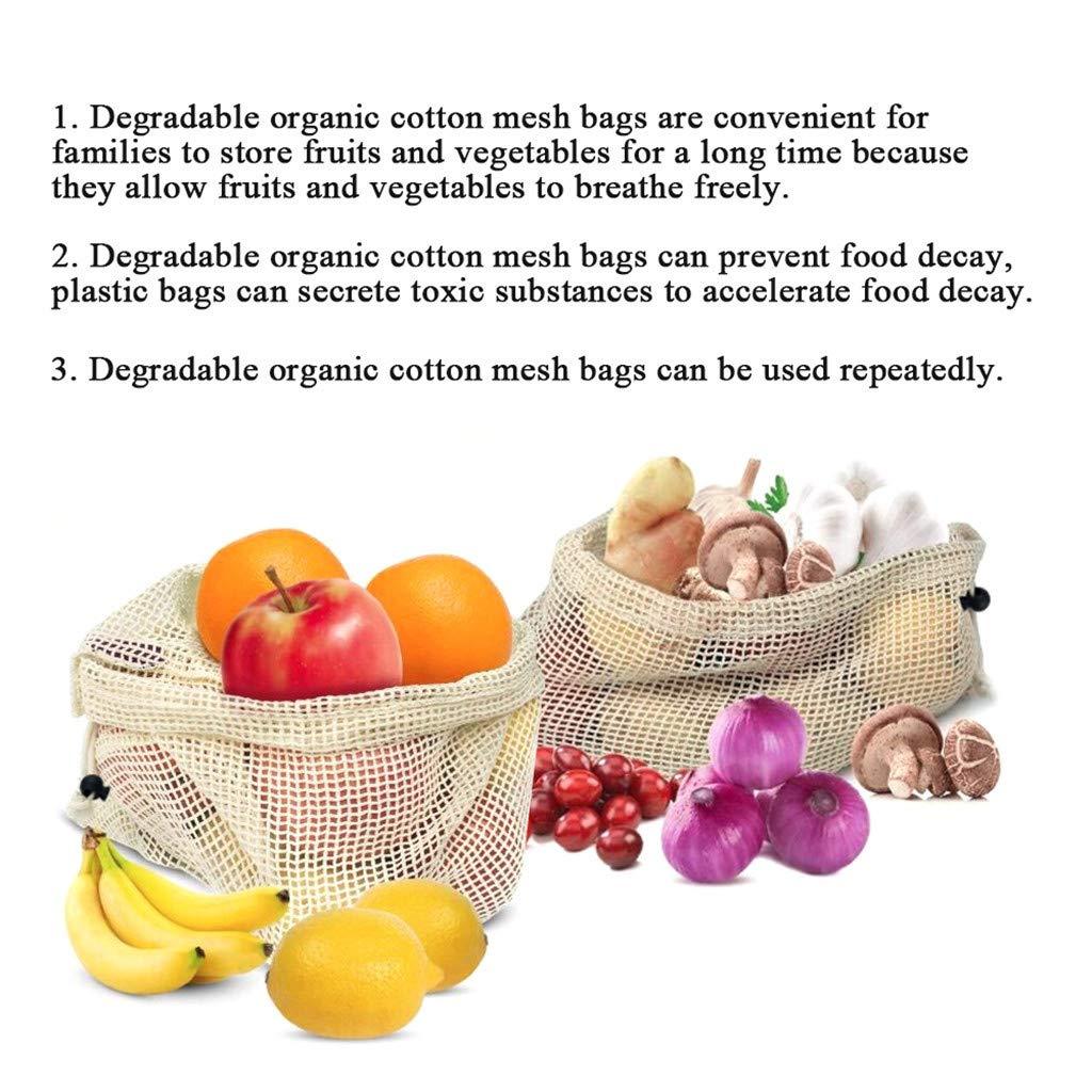 Amazon.com: Barhalk - Bolsas de algodón reutilizables para ...