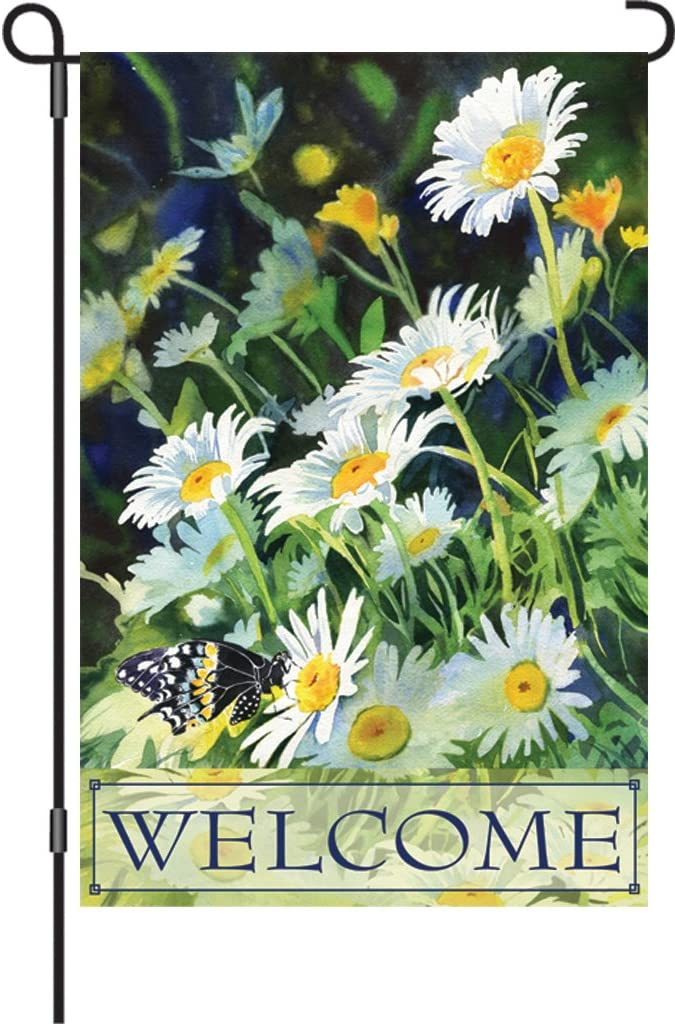 Premier 51089 Garden Premier Soft Flag, Welcome Daisies, 12 by 18-Inch