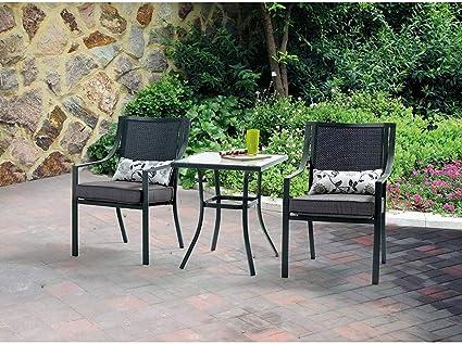 Amazon.com: Mainstays Alexandra - Juego de muebles de jardín ...