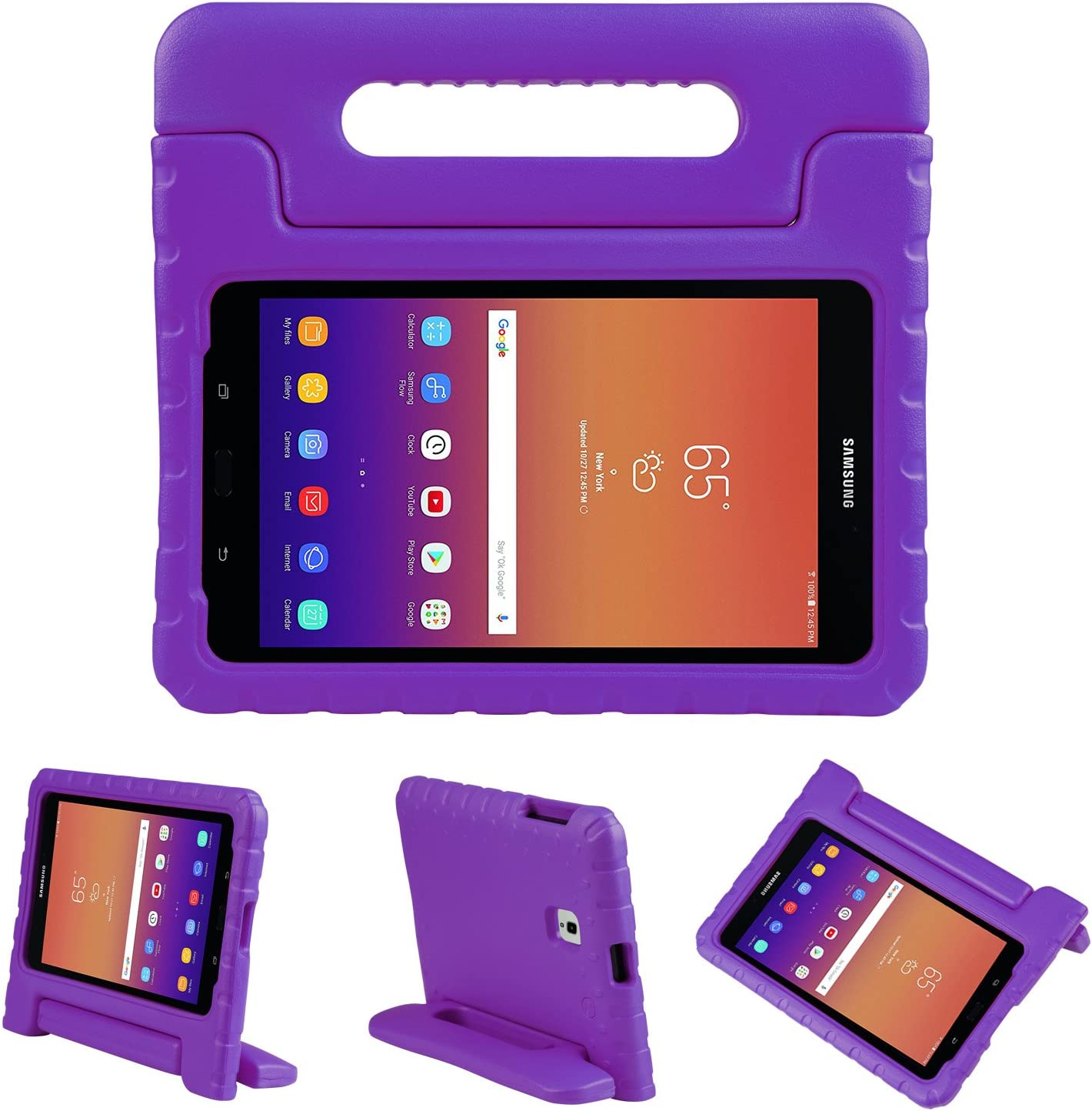NEWSTYLE Tab A 8.0 2017 Kids Case Shockproof Light Weight Protection Handle Stand Kids Case for Samsung Galaxy Tab A 8.0 (SM-T380/T385) 2017 Release (Purple)