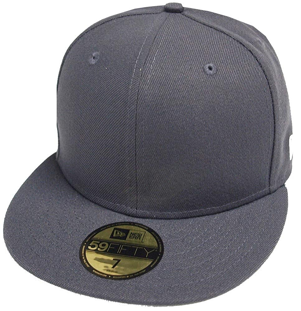 f3bb3292 New Era Graphite Dark Grey Blanc Blank 59fifty 5950 Fitted Cap Kappe Men at Amazon  Men's Clothing store: