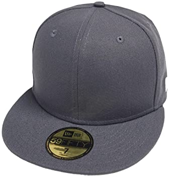 b74122c77f227 New Era Graphite Dark Grey Blanc Blank 59fifty 5950 Fitted Cap Kappe Men at  Amazon Men s Clothing store