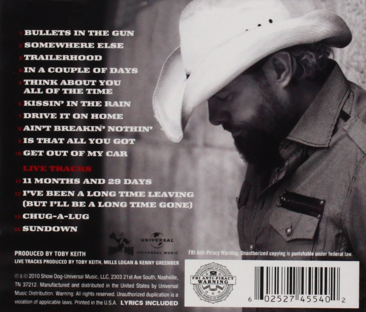 Toby Keith Quiz Of The Century 2005 Voter Request Card