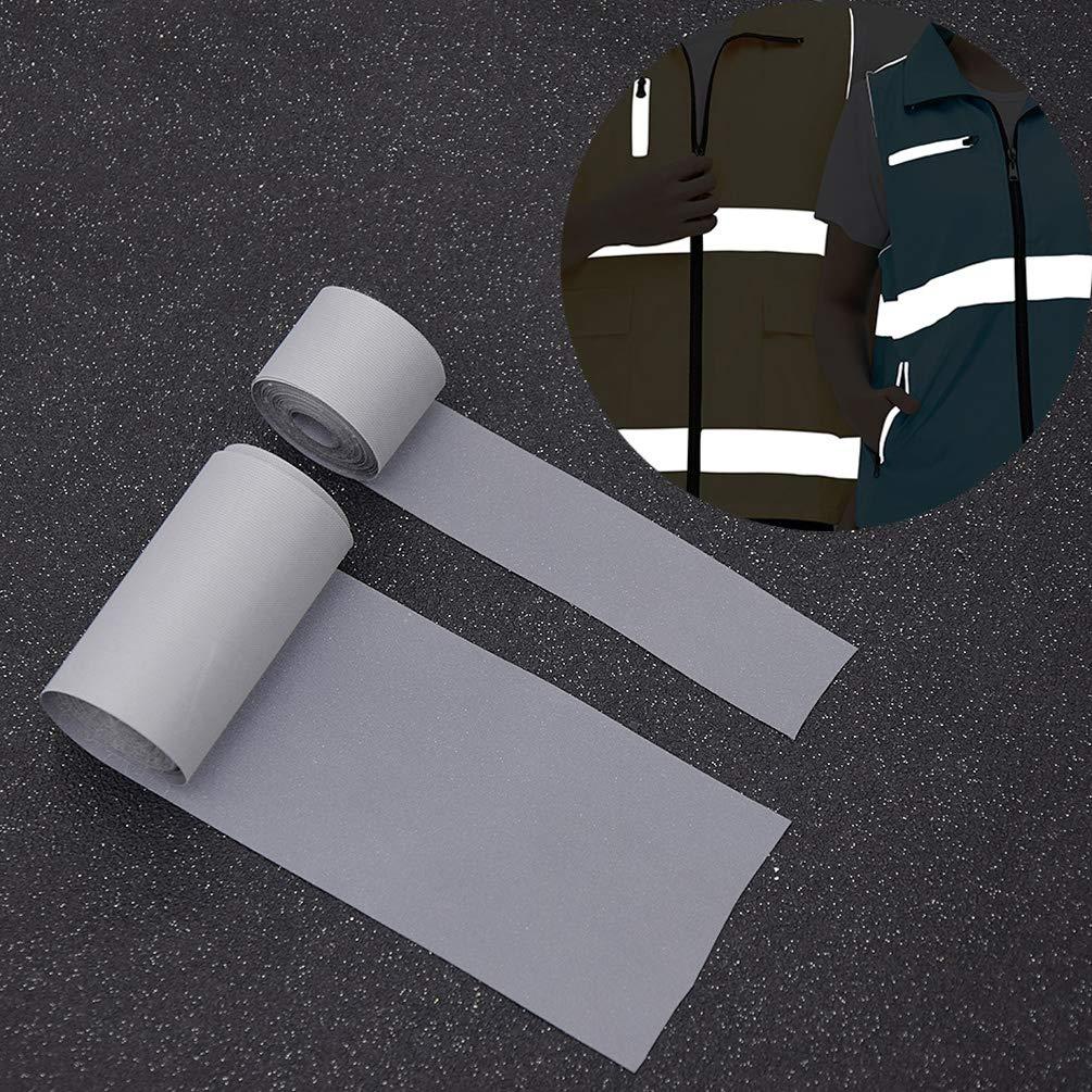 Kesheng Cinta Reflectante para Coser 2cm x 3mts Cinta de Alta Visibilidad para Ropa de Trabajo