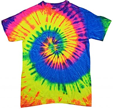 Amazon.com: Buy Cool Shirts Kids Tie Dye Shirt Multi Color Neon ...