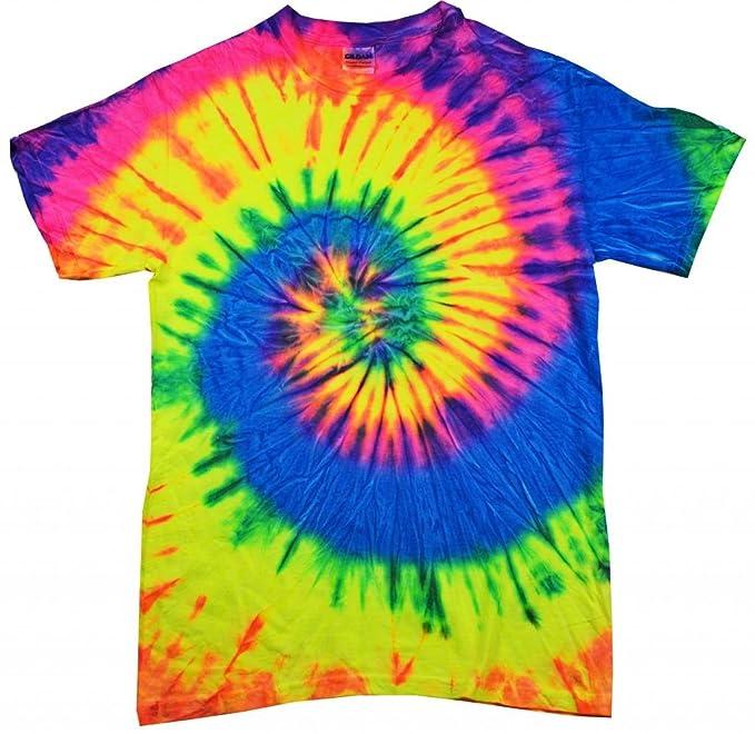3b38576e7d0 Buy Cool Shirts Kids Tie Dye Shirt Multi Color Neon Rainbow T-Shirt 6-