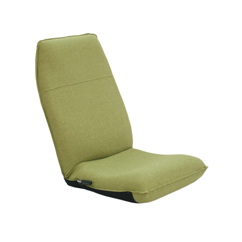 座椅子 産学連携 レバー式ハイバック座椅子 CBC313 グリーン 日本製 ymz-049 B01688X94G グリーン グリーン