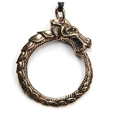 Keltischer schmuck  Midgard Schlange keltischer Schmuck Anhänger Bronze, Länge mit Öse ...
