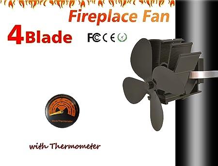 alimentato a calore camino 8 lame Mini ventilatore per stufa