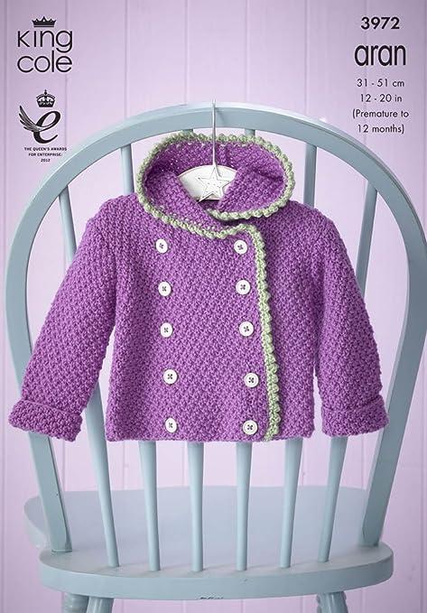 Knitting Pattern ~ Baby Set in King Cole Comfort Aran - 3972: Amazon ...