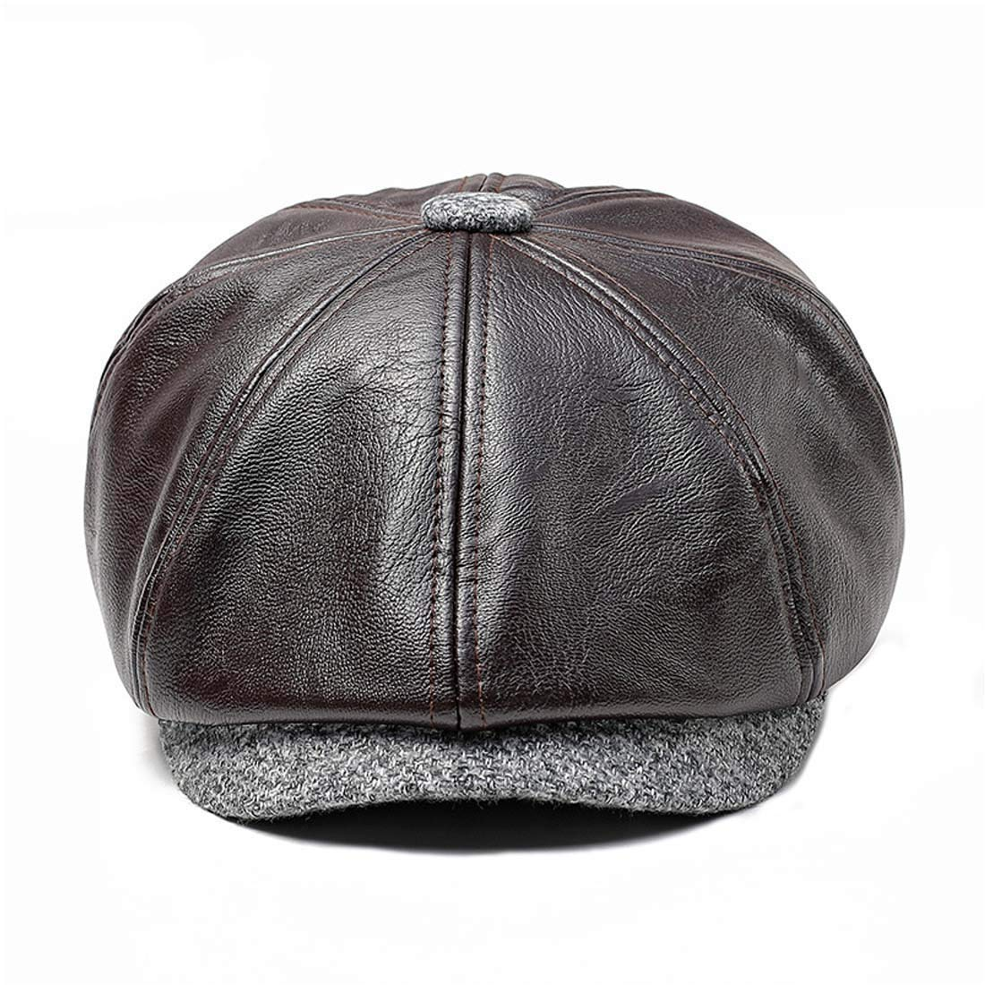 a44ba02f66f8b2 King Star Mens Vintage 8 Panel Leather Newsboy Cap Cabbie Driving Gatsby  Hats: Amazon.ca: Clothing & Accessories