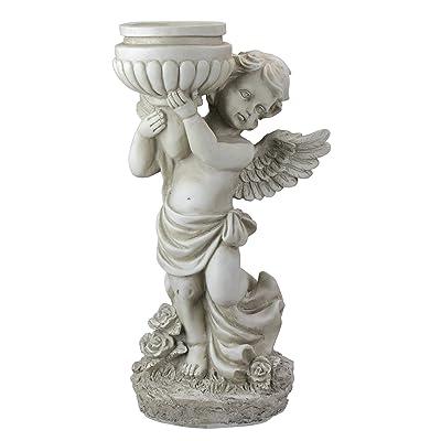 """Northlight 17"""" Angel Cherub Holding a Birdbath Outdoor Garden Statue : Garden & Outdoor"""