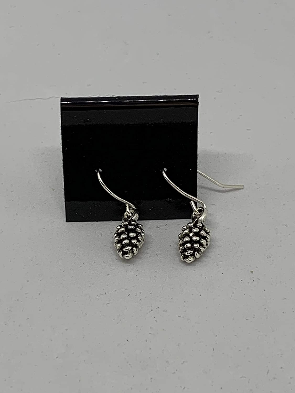 3-D Pine Cone Earrings