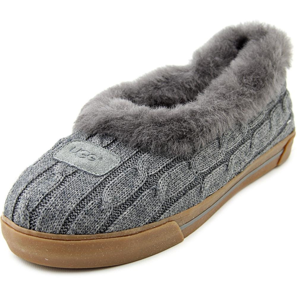 c4767bdee49 UGG Australia Womens Rylan Knit Slippers Footwear Heathered Grey ...