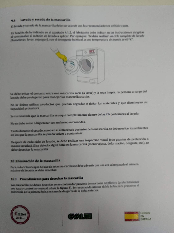 Mascarilla Lavable Reutilizable Azul con Bandera: Amazon.es: Industria, empresas y ciencia
